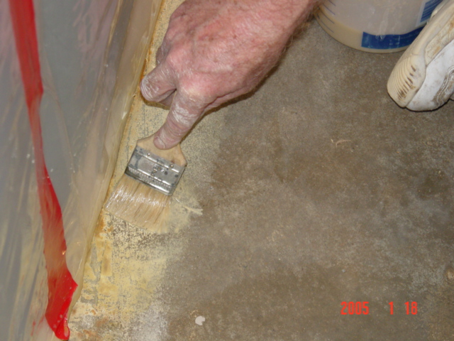 How to clean carpet glue from concrete floor for How to mop concrete floor