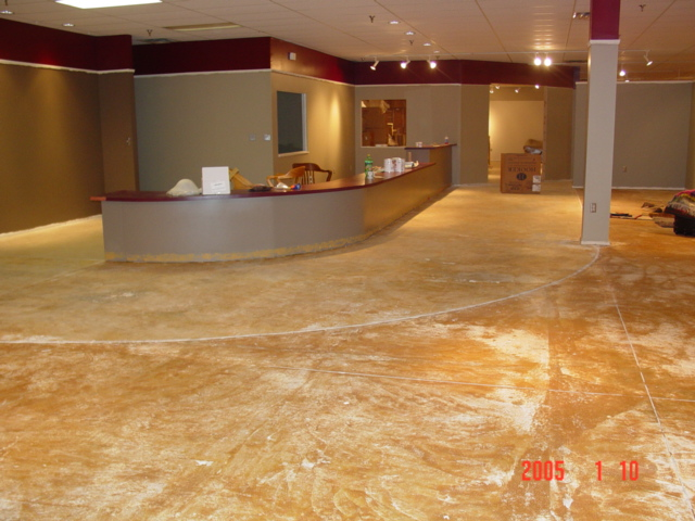 Acid stained concrete for How to clean concrete floors before staining