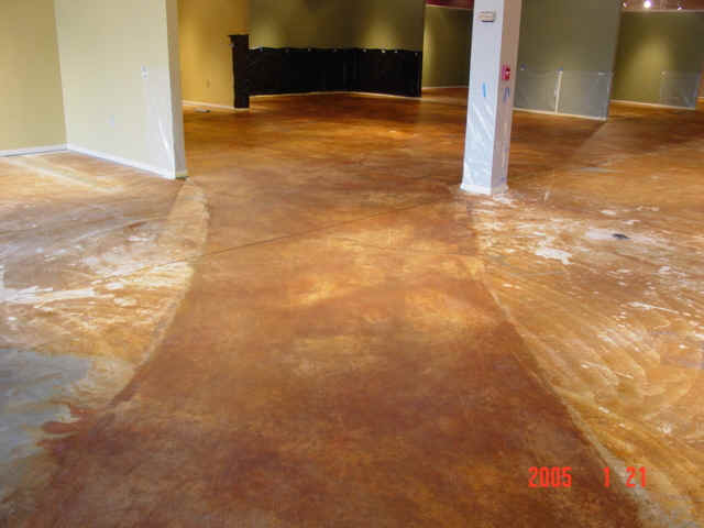 Acid Stained Concrete Furniture Store Pg2